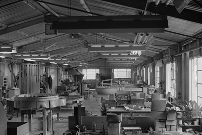 TEAL metal shop, Mechanics Bay.; Les Downey; 1940s; 05/026/016