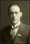 Black and white studio portrait of Lawson Field; Circa 1918; 04/071/020