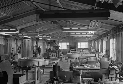 TEAL metal shop, Mechanics Bay.; Les Downey; 1940s; 05/026/017