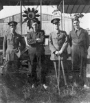 "New Zealand Flying School trainees in front of Walsh Brothers solo flying boat ""E"" at Kohimarama; Unidentified; 10-0916"
