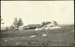 Black and white postcard showing tents and hangars of the Walsh Brothers Flying School at Mission Bay; 1915-1916; 04/071/096