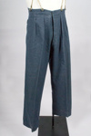 Uniform Trousers [RNZAF]; New Zealand. Royal New Zealand Air Force (New Zealand, estab. 1937), Austin Reed (England, estab. 1900); 1944; 2014.332.2