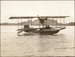 Black and white photograph of the 1915 Walsh flying boat planing on the surface at a speed of 50 miles per hour; Unidentified; 1915; 04/077/092