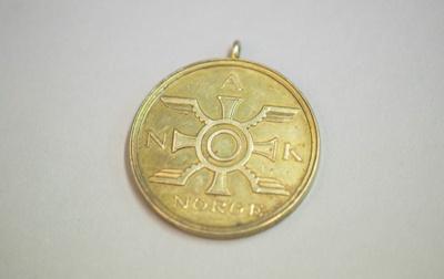 Medal [Norge Jean Batten]; Jakob Tostrup Prytz (Norway); 1939; 2012.471
