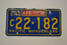 Vehicle Number Plate [Oregon]; 1960; 1966.488.4