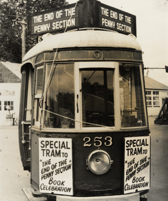 [Tram no. 253 decorated for