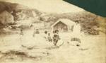 Group photograph of Maori women and children at Whakarewarewa; Unidentified; 13-1177
