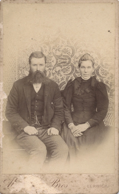 Photograph of a woman and man; A. & A. J. Abernethy; 13-1070