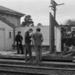 Photograph of Waitakere station building; Les Downey; 1973; 14-1362