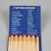 Matchbook [Air New Zealand]; Air New Zealand Limited (New Zealand, estab. 1965), Allenco Match; 2003.149