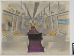 [Auckland Rapid Transit: Concept for interior of a passenger carriage]; Gifford Jackson (b. 1920, d. 2013); [1974]; ART-2017-8.8
