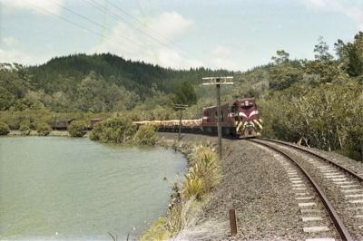 Photograph of DA locomotives on Opua line; Les Downey; 1985?; 14-4651