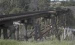 Photograph of trestle rail bridge; Les Downey; 1972-1976; 14-4083