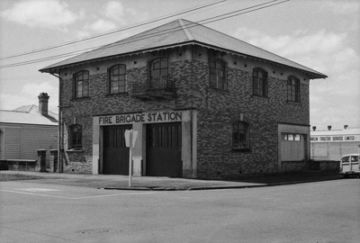 Photograph of Pukekohe fire station; Les Downey; 1973; 14-1739