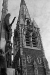 Photograph of Christchurch cathedral spire; Les Downey; 1972-1976; 14-3691