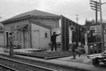 Photograph of Waitakere station building; Les Downey; 1973; 14-1360