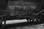 Photograph of ballast wagon YB 614; Les Downey; 1972; 14-3412
