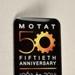 Badge [MOTAT, 50 Years]; 2014; 2015.71