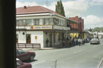 Photograph of hotel in main street, Kawakawa; Les Downey; 1985; 14-4690