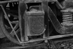 Photograph of 1883 axle box; Les Downey; 1972-1976; 14-4020