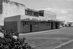 Photograph of Pukekohe bus station; Les Downey; 1973; 14-1748