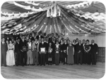 Group portrait of football club prize giving; Unidentified; 1930s; 13-2193