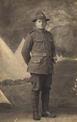 Photograph of a soldier; Unidentified; 13-1083