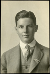 Black and white studio portrait of Howard Vincent Coverdale; Circa 1918; 04/071/004