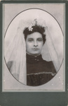 Portrait photograph of young woman; Unidentified; 13-1046