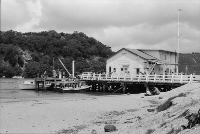 Photograph of Whitianga wharf; Les Downey; 1973; 14-1980