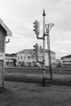Photograph of rail signal pole; Les Downey; 1973; 14-1652