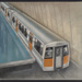 [Auckland Rapid Transit: Concept for train 124 and passenger platform]; Gifford Jackson (b. 1920, d. 2013); July 1974; ART-2017-8.6