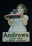 Advertising Sign [Andrews Liver Salt]; Scott & Turner (England, estab. 1894, closed 1923); 2015.146