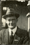 Black and white portrait of Leo Walsh; Circa 1918; 04/071/002
