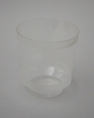 Drinking Glass [Air New Zealand]; Air New Zealand Limited (New Zealand, estab. 1965), TransWorld Plastics Limited (estab. 1960, closed 1990); 2016.4.85