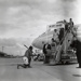 Air New Zealand DC8 at the opening of Mangere; Whites Aviation Limited; 24 Nov 1965; 14-6039
