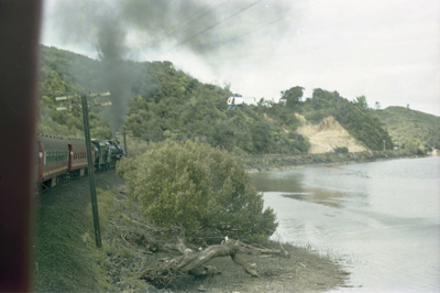 Photograph from excursion train, Opua line; Les Downey; 1985?; 14-4608