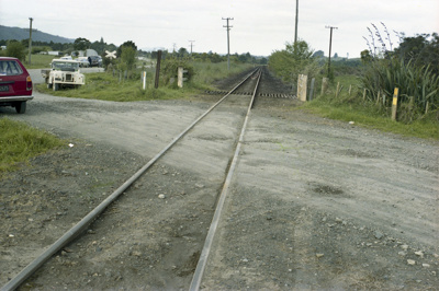Photograph of level crossing; Les Downey; 1985?; 14-4530