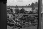 Photograph of Cropper House, MOTAT, under reconstruction; Les Downey; 1972-1976; 14-1126