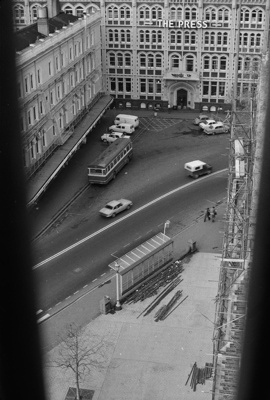 Photograph from Christchurch cathedral spire; Les Downey; 1972-1976; 14-3689