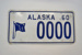 Vehicle Number Plate [Alaska]; 1960; 1966.486.16