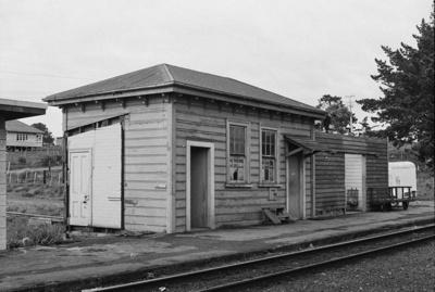 Photograph of Waitakere station building; Les Downey; 1973; 14-1353