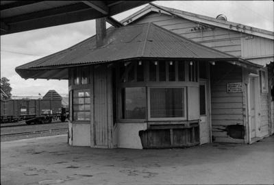 Photograph of Frankton Junction rail station; Les Downey; 1975; 14-3845