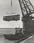 Floating crane Mahua with bus; Russell Waite; 08/092/137