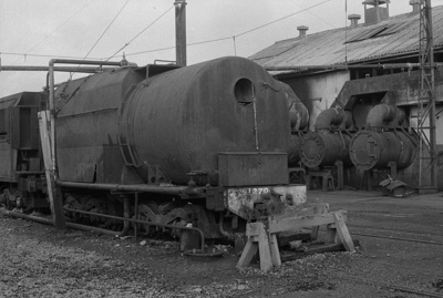 Photograph of J class locomotive remnants; Les Downey; 1972-1976; 14-1244