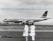 Air New Zealand DC8 at the opening of Mangere; Whites Aviation Limited; 24 Nov 1965; 14-6055