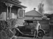 Victorian villa and 1929-1930 Ford Model A  car; Unidentified; 1930s; 13-2219