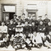 [Auckland tramway rugby players at Ponsonby Depot]; Unknown Photographer; 1905?; 14-0881