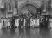 Group portrait in dance hall; Unidentified; 1930s; 13-2251