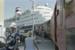 Photograph of Opua wharf, train and cruise ship; Les Downey; 1985; 14-4294